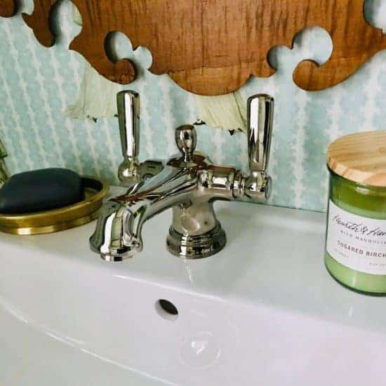 space saving plumbing faucet single hole vintage
