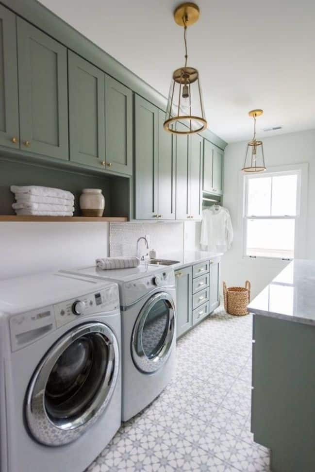 My Green Butler's Pantry/Laundry Combo Plans -- Maximizing Every Square Inch!