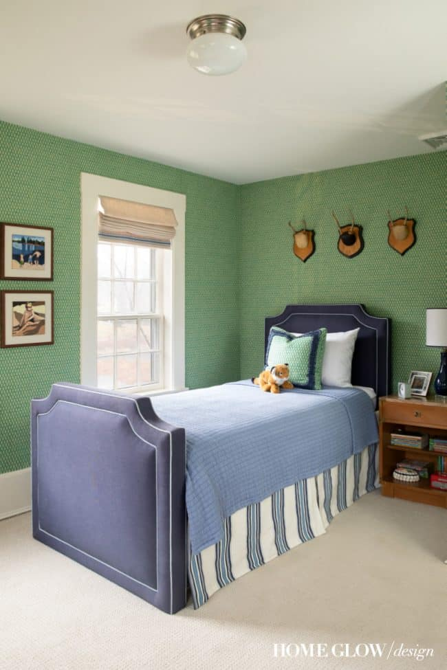 Boy's Green & Vintage Bedroom Reveal