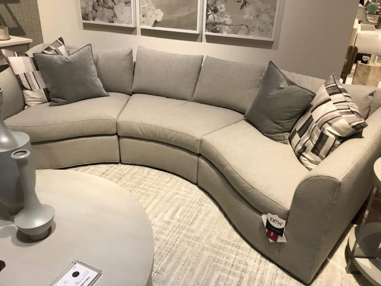 8 Trends from High Point for All Styles, People, and Pets, channel curved sofa