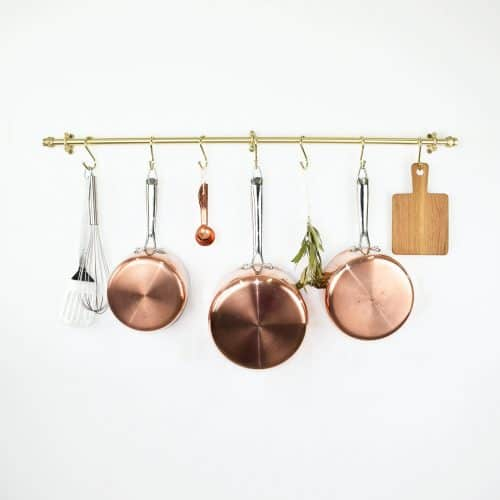 An Awesome Source for Custom Pot Racks brass