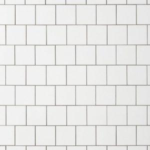 4 x 4 square white subway tile