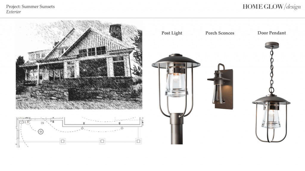 Lighting plan lake house
