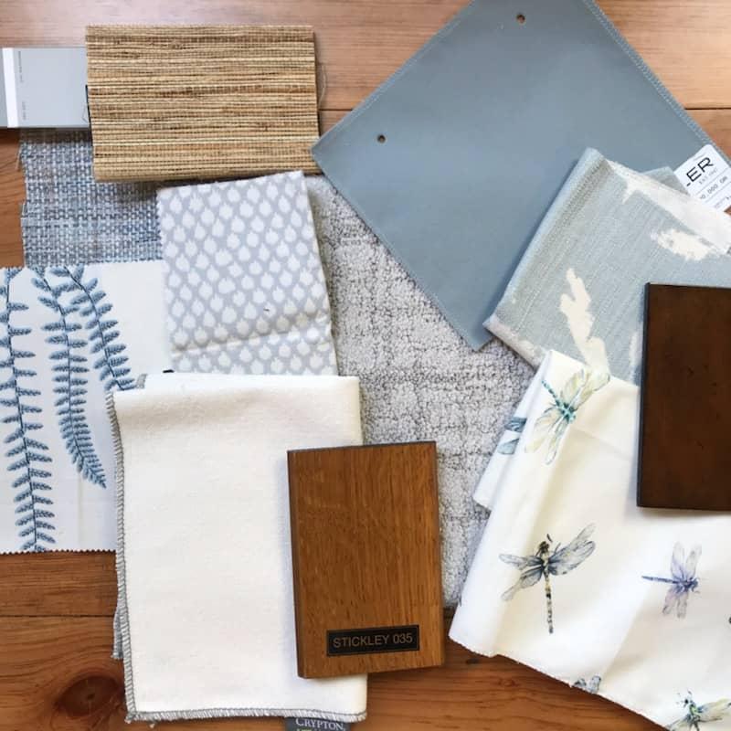 Monochromatic Blue Living Room Design Scheme
